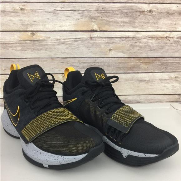 promo code 9c28e 3874a Nike PG 1 Paul George Black University Gold Gray